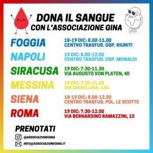 donazione sangue associazione gina